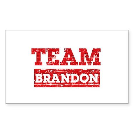 Team Brandon Sticker (Rectangle)