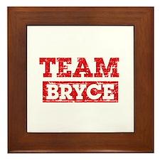 Team Bryce Framed Tile