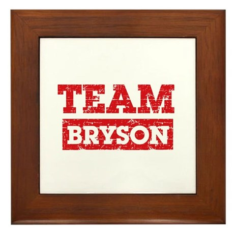 Team Bryson Framed Tile