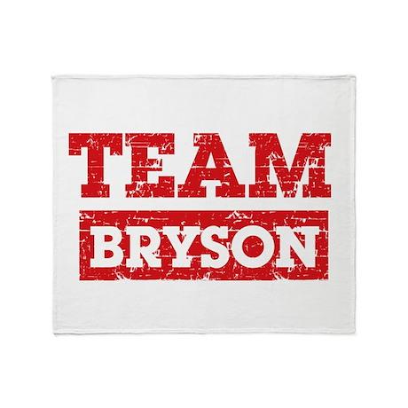 Team Bryson Throw Blanket