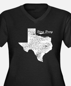 Ding Dong, Texas. Vintage Women's Plus Size V-Neck