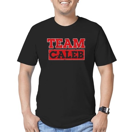Team Caleb Men's Fitted T-Shirt (dark)
