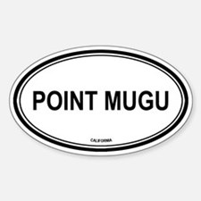 Point Mugu oval Oval Decal