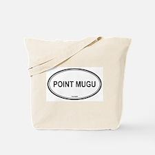 Point Mugu oval Tote Bag