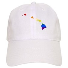 Rainbow Pride Flag Hawaii Map Baseball Cap