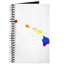 Rainbow Pride Flag Hawaii Map Journal