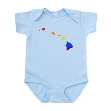 Rainbow Pride Flag Hawaii Map Infant Bodysuit