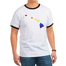 Rainbow Pride Flag Hawaii Map T