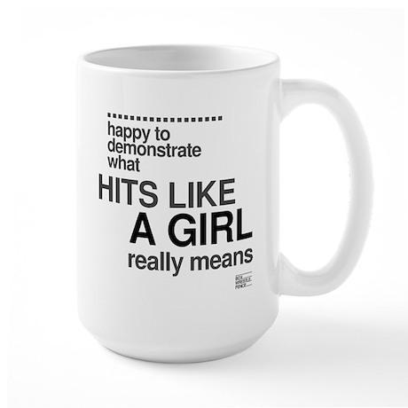 Hit Like a Girl Large Mug