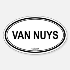 Van Nuys oval Oval Decal