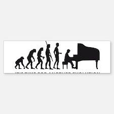 evolution piano Bumper Bumper Sticker