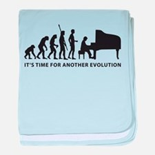 evolution piano baby blanket