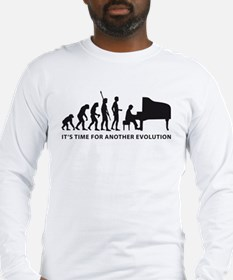 evolution piano Long Sleeve T-Shirt