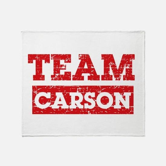 Team Carson Throw Blanket