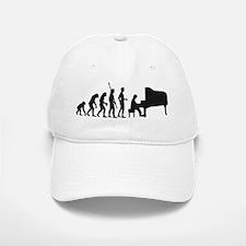 evolution piano player Baseball Baseball Cap