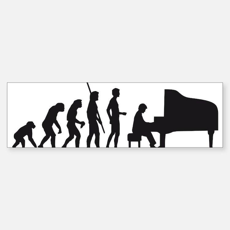 evolution piano player Bumper Bumper Sticker
