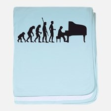 evolution piano player baby blanket
