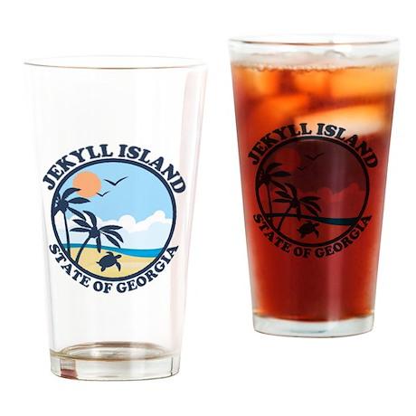 Jekyll Island GA - Sand Dollar Design. Drinking Gl