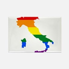Rainbow Pride Flag Italy Map Rectangle Magnet