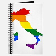 Rainbow Pride Flag Italy Map Journal