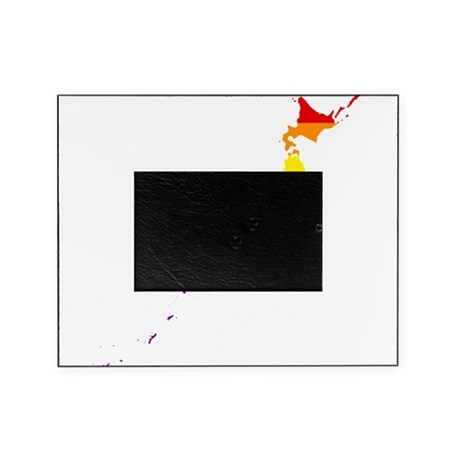 Rainbow Pride Flag Japan Map Picture Frame