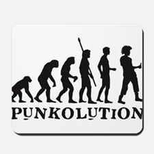 evolution punk rocker Mousepad