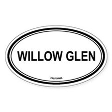 Willow Glen oval Oval Decal