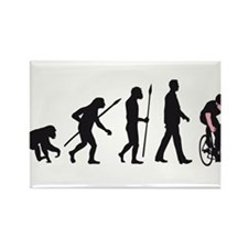 evolution bicycle Rectangle Magnet