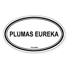 Plumas Eureka oval Oval Decal