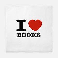I heart Books Queen Duvet