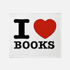 I heart Books Throw Blanket