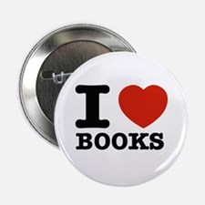 """I heart Books 2.25"""" Button (100 pack)"""