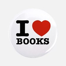 "I heart Books 3.5"" Button (100 pack)"