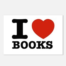 I heart Books Postcards (Package of 8)
