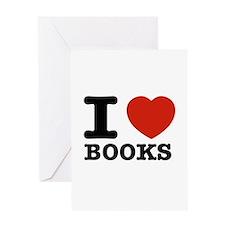 I heart Books Greeting Card