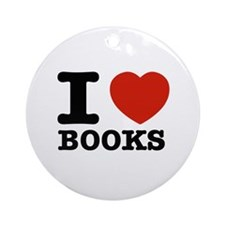 I heart Books Ornament (Round)