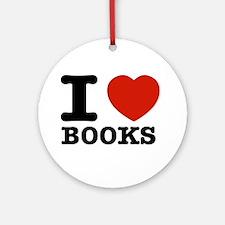 I heart Books Ornament (Round)