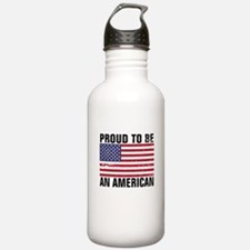 Proud to be an American - Distressed Water Bottle