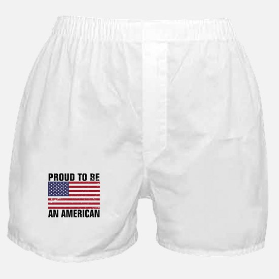 Proud to be an American - Distressed Boxer Shorts