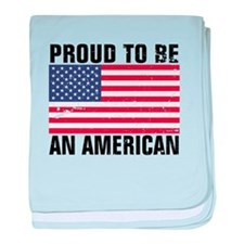 Proud to be an American - Distressed baby blanket