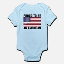 Proud to be an American - Distressed Infant Bodysu