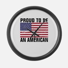 Proud to be an American - Distressed Large Wall Cl