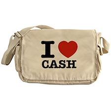 I heart Cash Messenger Bag