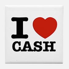 I heart Cash Tile Coaster