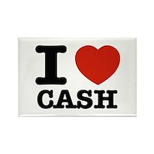 I heart Cash Rectangle Magnet