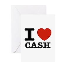 I heart Cash Greeting Card