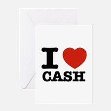 I heart Cash Greeting Card