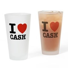 I heart Cash Drinking Glass