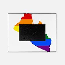 Rainbow Pride Flag Liberia Map Picture Frame