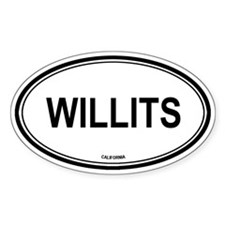 Willits oval Oval Decal
